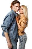Reizvolle junge Paare Stockbilder