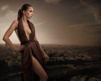 Reizvolle junge Schönheitsaufstellung Lizenzfreies Stockbild