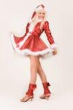 Reizvolle Mrs Weihnachtsmann Lizenzfreie Stockfotos