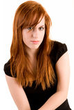 Reizvolle Redhead-Dame Stockfoto