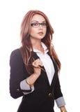 Reizvolle sinnliche Geschäftsfrau Stockfotografie