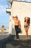 Reizvolle Sommerkarosserien Stockfotos