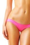 Reizvolle tan Frau in der Bikininahaufnahme Lizenzfreie Stockfotografie