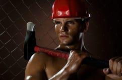 Reizvoller Arbeiter Stockbilder