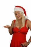 Reizvoller blonder Sankt Helfer (1) Stockfoto
