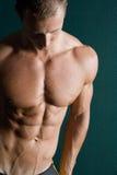 Reizvoller Erbauer der muskulösen Karosserie Lizenzfreie Stockfotos