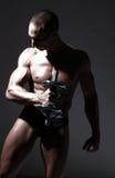 Reizvoller Erbauer der muskulösen Karosserie Stockfotografie