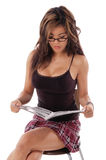 Reizvoller Frauen-Messwert Stockfoto