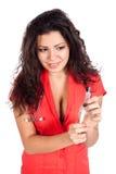 Reizvoller Krankenschwester- oder Frauendoktor mit Spritze Stockfotografie