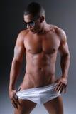 Reizvoller Mann in der Unterwäsche. Lizenzfreies Stockfoto