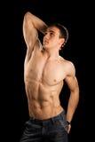 Reizvoller muskulöser Mann lizenzfreie stockfotos