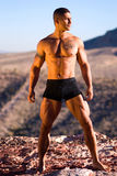 Reizvoller muskulöser Mann. Lizenzfreies Stockfoto