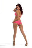 Reizvoller rosafarbener Bikini stockfoto