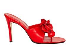 Reizvoller roter Schuh Stockbilder