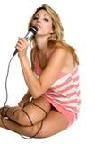 Reizvoller Sänger Stockbilder