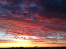 Reizvoller Sonnenuntergang Stockfotos