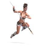 Reizvoller weiblicher Fantasie Barbar Lizenzfreies Stockfoto
