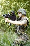 Reizvoller weiblicher Soldat Lizenzfreie Stockfotos