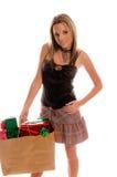 Reizvoller Weihnachtskäufer Lizenzfreie Stockfotografie