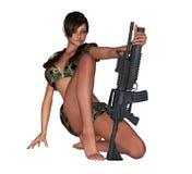 Reizvolles Armeemädchen Lizenzfreie Stockbilder