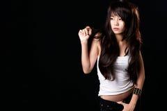 Reizvolles asiatisches Mädchen Stockfotografie
