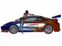 Reizvolles Autowäsche Lizenzfreie Stockbilder