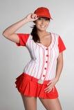 Reizvolles Baseball-Mädchen Stockbild