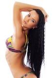 Reizvolles Baumuster im Bikini stockbilder