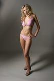 Reizvolles Baumuster im rosafarbenen Bikini Lizenzfreie Stockbilder