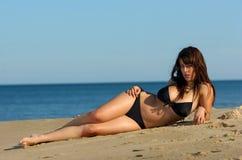Reizvolles Bikinimädchen Stockbild