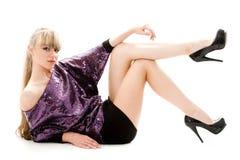 Reizvolles blondes Lizenzfreies Stockfoto