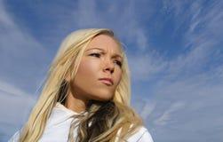 Reizvolles blondes Stockfotografie