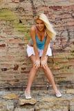 Reizvolles blondes Art und Weisebaumuster Lizenzfreies Stockbild