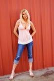 Reizvolles blondes Art und Weisebaumuster Lizenzfreies Stockfoto