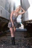 Reizvolles blondes Art und Weisemädchen Lizenzfreie Stockfotos