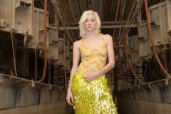 Reizvolles blondes Art und Weisemädchen Stockfotos