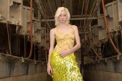 Reizvolles blondes Art und Weisemädchen Lizenzfreie Stockbilder