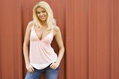 Reizvolles blondes Baumuster Lizenzfreies Stockfoto