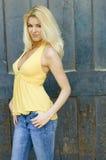 Reizvolles blondes Baumuster Lizenzfreie Stockfotografie
