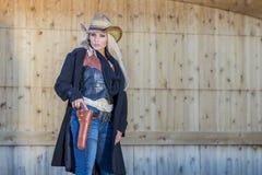 Reizvolles blondes Cowgirl Lizenzfreies Stockbild