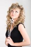 Reizvolles blondes feenhaftes Mädchen Lizenzfreie Stockfotos