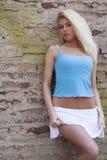 Reizvolles blondes Frauenbaumuster Lizenzfreies Stockfoto