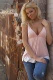 Reizvolles blondes Frauenbaumuster Lizenzfreie Stockfotos