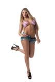 Reizvolles blondes Mädchen im Bikini Lizenzfreies Stockfoto