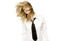 Reizvolles blondie stockbild
