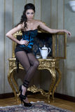 Reizvolles französisches Mädchen. Stockfotografie