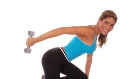 Reizvolles freies Gewicht-Training Stockfoto