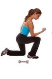 Reizvolles freies Gewicht-Training Lizenzfreies Stockfoto