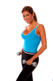 Reizvolles freies Gewicht-Training Stockbild