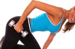 Reizvolles freies Gewicht-Training Lizenzfreie Stockfotografie
